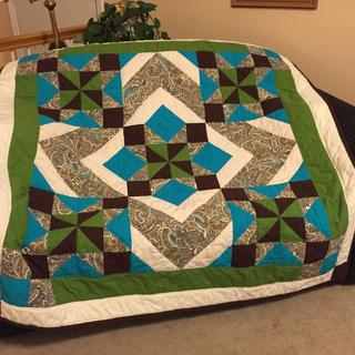 I used leftovers to make a matching quilt