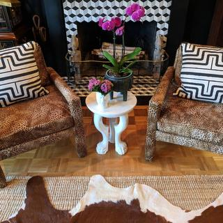 Love how the fabric transformed these chairs.
