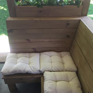 Cushions for our (covered) outdoor seating area.