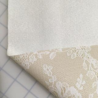 White Lace Flannel Backed Vinyl