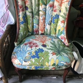 I love this material these were my grandmothers chair that will be in my new house at the beach