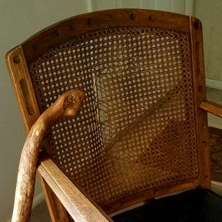 The cane webbing was already broken when she received the chair after her grandmother passed away.