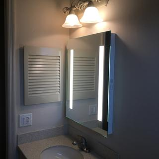 Great product.   Install mirror on separate switch due to mirror is blue tooth and makes beeps.