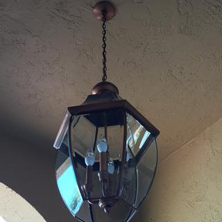 Newly installed Quoizel Newbury 16 inch Hanging Lantern in my entryway