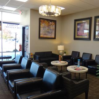 Romeoville dental office waiting area.