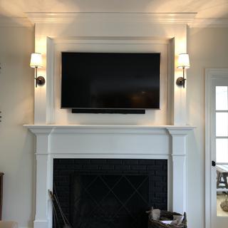 Full fireplace