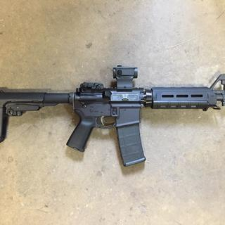 "10.5"" 5.56 nato MOE build kit w/ SBA3 pistol brace. Holosun red dot w/ magpul mbus rear sight."