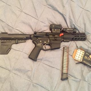 Sparq AR red dot and TLR-1s on the rail