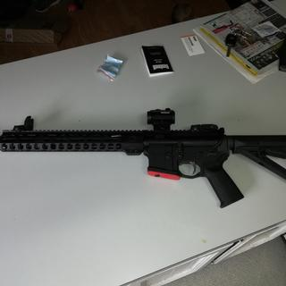 """My first build, Anderson lower, Psa 16"""" 5.56 NATO kit."""