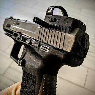 Runs great on the Canik TP9SFX and looks good too.