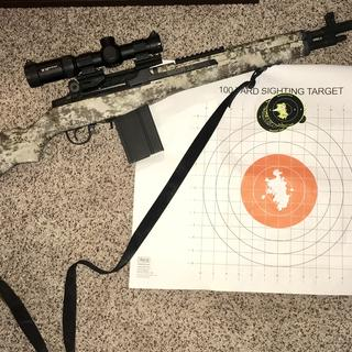 Center Target is iron sights, glow target is Vortex Glass