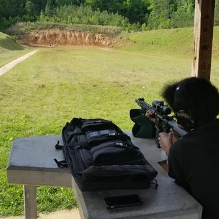 My son shooting at 100 yards.