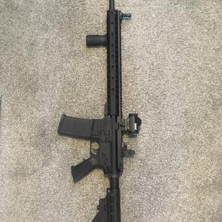 US Armory Lower-MAGPUL Stock & Grip; MAGPUL Sights w/ Bushnell Red Dot; Fostech Nickel Carrier Bolt.