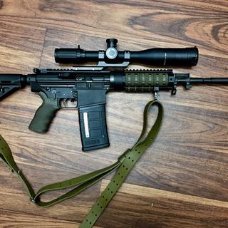 Started out as a DPMS LR-308 4yrs ago. Now it's practical.