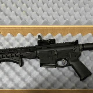 Mlok Angled Foregrip, $25 Holo Sight from Amzn, Aero Precision Lower and this kit.