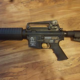 """10.5"""" PSA Shockwave pistol kit, A2 carry handle rear sight."""