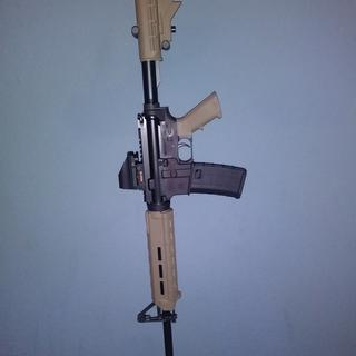With drop-in Magpul handguards, attached to PSA FDE lower