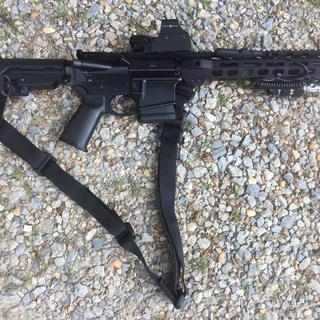 """8.5"""" PSA upper with PSA lower, SBA3 brace, and enhanced polished trigger. Great, compact truck gun!"""