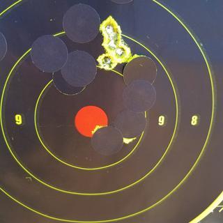 5 shot group at 100 yards