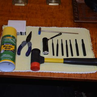 MY complete tool kit, no vise, no special tools,