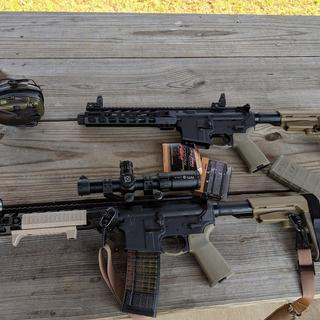 Coworker and I built our guns at the same time. His on top mine on bottom.