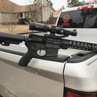 """6.5 Grendel AR upper with 12.5"""" SS 1/8 upper.   Strike Eagle 1-8x24 scope with Burris PEPR Mount"""