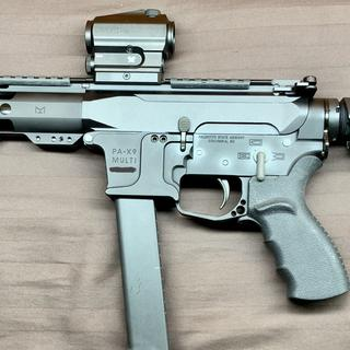 The SBA3 on my AR-9mm Glock Gen 4 PSA Build.  Picture #4 Left Side