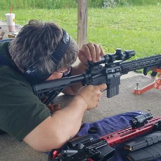 "My PSA AR-15 with 16"" FN barrel. The scope is a Vortex 1-4x Crossfire II."