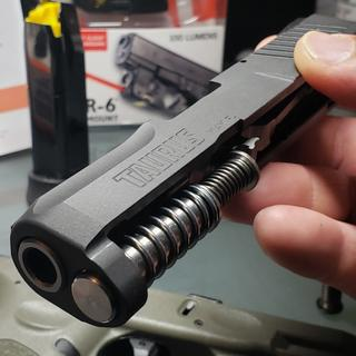Recoil spring and rod can be upgraded.