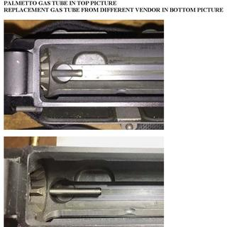 Short protrusion of gas tube into upper receiver
