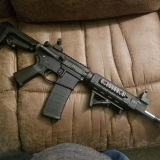 "PSA stainless 11.5"" upper with PSA pistol kit,Mad dog lower and magpul furniture."