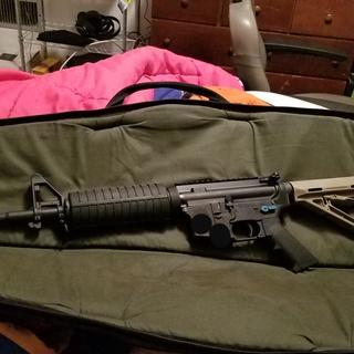 Added magpul stock after the weapon was finished.