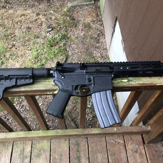 Finished with a upper from  bear creek arms