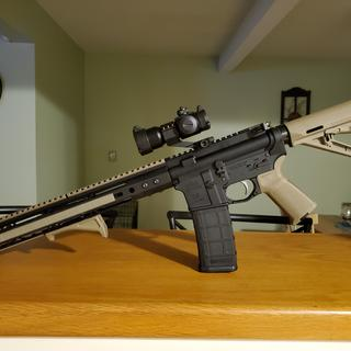 New lower with a BCA 5.56 upper. Great deal for the money.