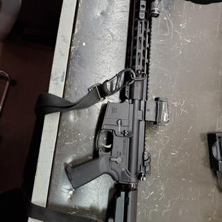 Dinged up a little but the rifle is great.