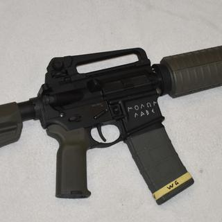 With carry handle sight on sbr lower.