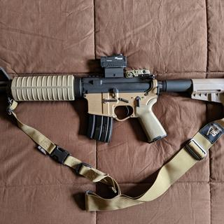 I added a SigSaur Romeo 5 red dot, and some Magpul bits, as well as an S2Delta sling.