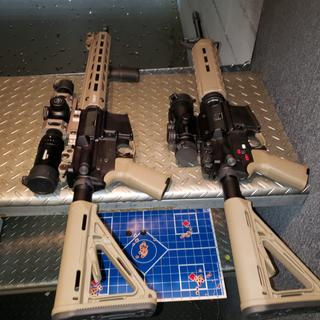 My PSA freedom rifle on right with a primary arms 1x6 love this rifle.