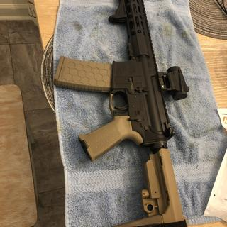 """PSA 8.5"""" 300 BLK pistol upper paired with the PSA pistol kit. You won't be disappointed!!"""
