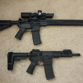 Next to my Armalite m15 for size comparison.  This thing rocks!