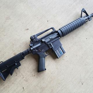 PSA 10.5-inch CHF upper. PSA lower registered as SBR. M&A stock and RRA handguards.