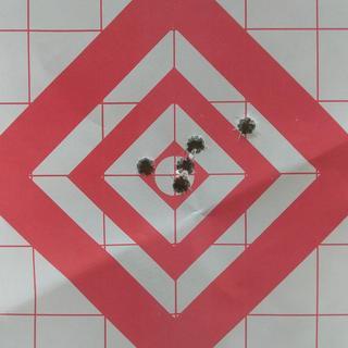 Shot at 100 yards Hornady 147gr Match ELD