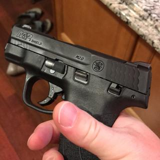 Love the little gun. Nice and slim. Even with the extended clip it sits nice IWB carry. No printing.