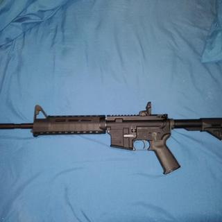 I modified it with Magpul M-Lok handguard, buttstock, and pistol grip.