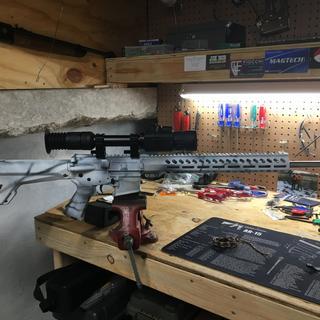 My new winter yote gun!