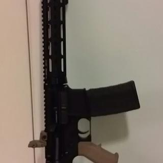 Drop in hand guard and magpul rear sight.