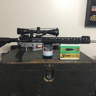 """25-45 Sharps 20"""" barrel with PSA parts.  Wife likes her rifle!  Thanks PSA!"""