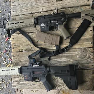 At the range, finally.