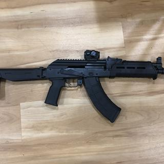 I added a Zhukov folder with a strong arm brace adapter, magpul k2 ak grip and a warfighter Comp