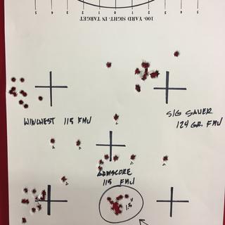 All 10 shot groups at 50 yards.